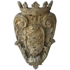 Antique Louis XVI Stone Element from Umbria with Intricate Carvings, circa 1780