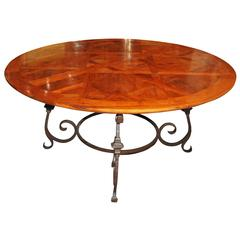 Round Parquet de Versailles Dining Table