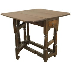 Period Welsh Oak Gate Leg Table