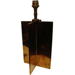 Jean-Michel Frank Croissillon Art Deco Bronze Table Lamp, circa 1935