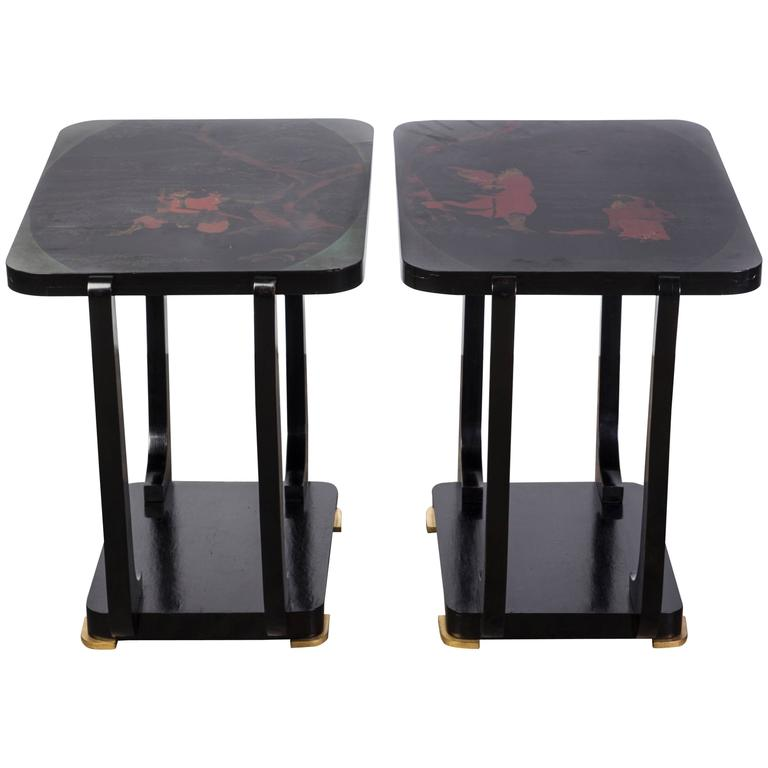 Gorgeous Pair of Art Deco Side Tables