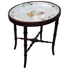 Early 19th Century English Porcelain Platter on Stand by Coalport and Garrett