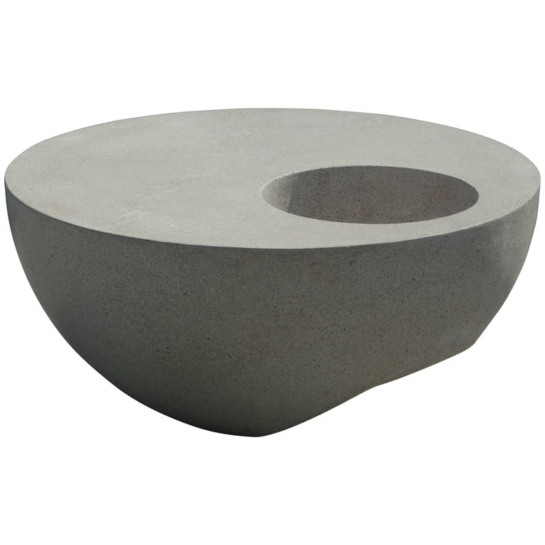 """36"""" Outdoor Hemisphere Coffee Table in Cast Fiberglass by May Furniture For Sale"""