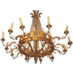 Period Empire Giltwood Chandelier
