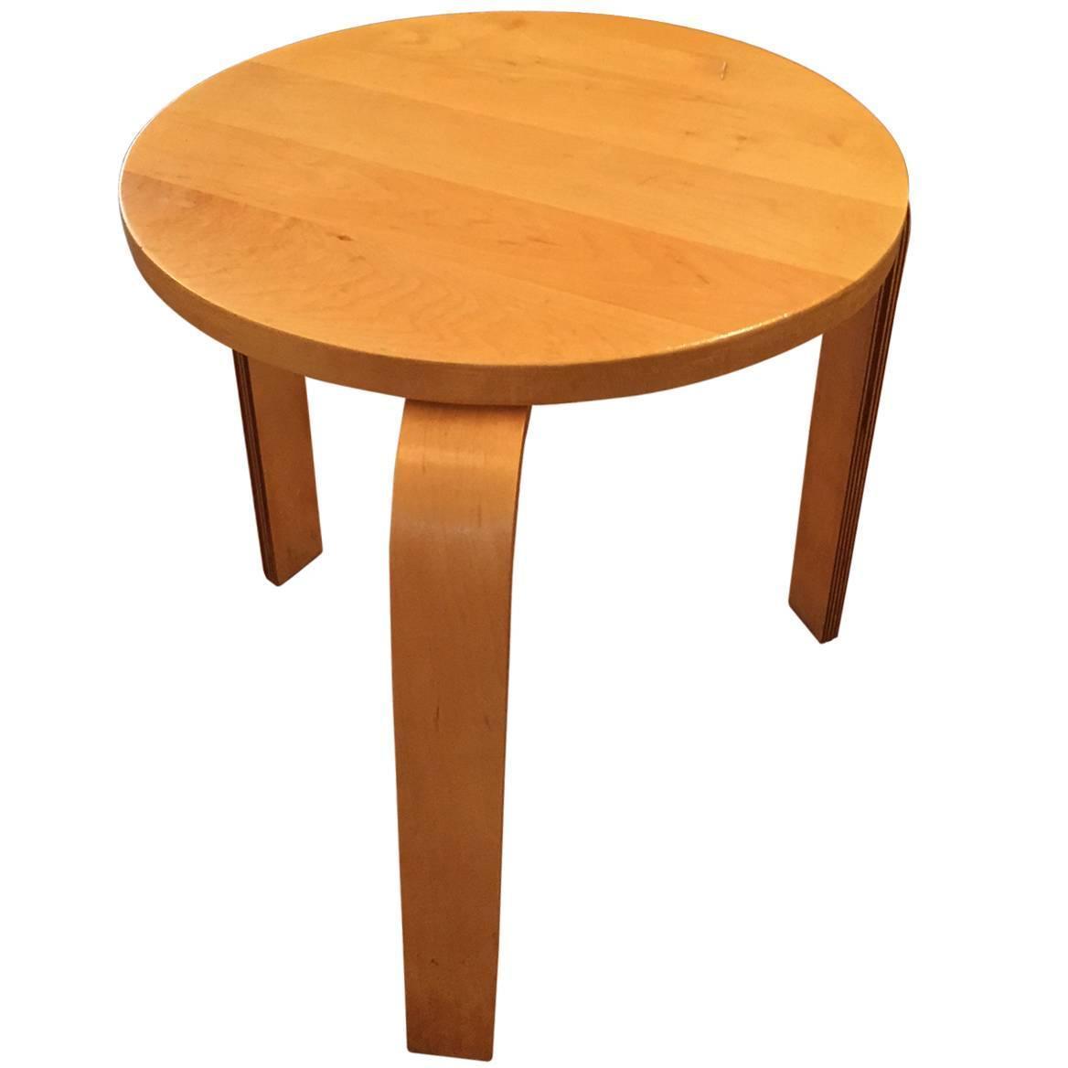 Alvar Aalto Mid Century Modern Stool Or Drinks Table For