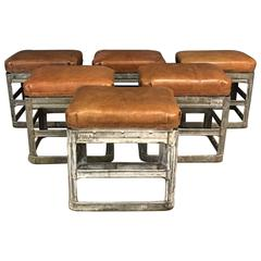 Vintage Industrial Stool by HRDLA Design Small