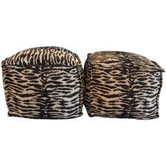 Zebra Print Ottomans