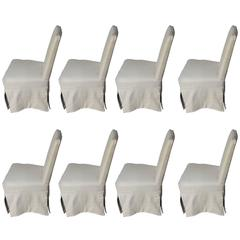 White Slip Cover Dining Chairs