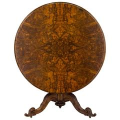 19th Century Louis-Philippe Tilt-Top Gueridon or Center Table
