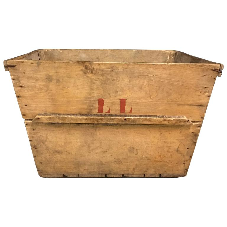 French antique wooden grape box used for wine and for Uses for wooden boxes