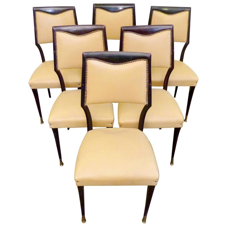 Dining Chairs by Paolo Buffa, Set of Six