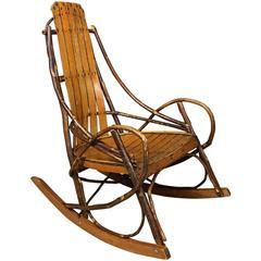 Vintage American Adirondack Rocking Chair, 1920s