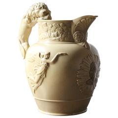 Rare King George IV Memoriam Buff Stoneware Jug, circa 1830