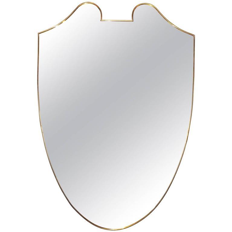 Italian Shield-Form Mirror