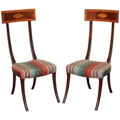 Early 19th Century Irish, Unusual Scale Mahogany Chairs