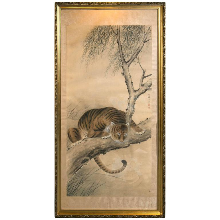 Asian Painting of Tiger