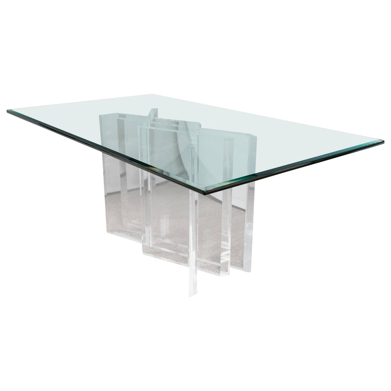 "Stella Prisma"" Lucite and Glass Dining Table For Sale at 1stdibs"
