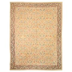 Antique Nundah Indian Hand-Stitched Carpet