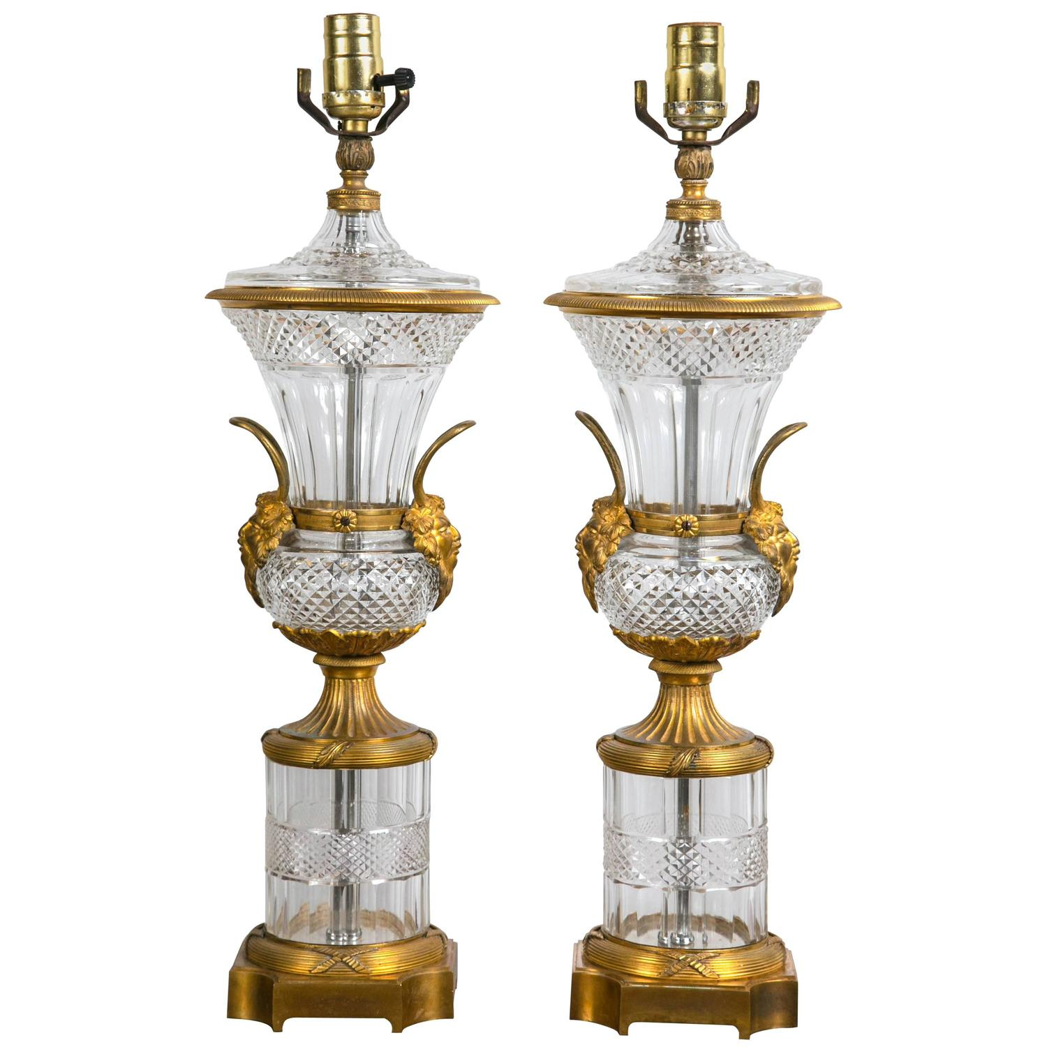 baccarat crystal lamps for sale at 1stdibs. Black Bedroom Furniture Sets. Home Design Ideas