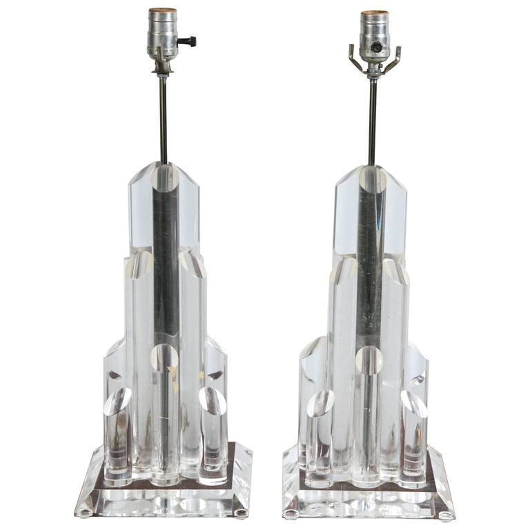 Designer Lucite Lamps For Sale At 1stdibs