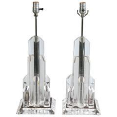 Designer Lucite Lamps