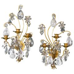 Rock Crystal Sconces Bagues
