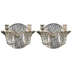Silver Plated Caldwell Sconces