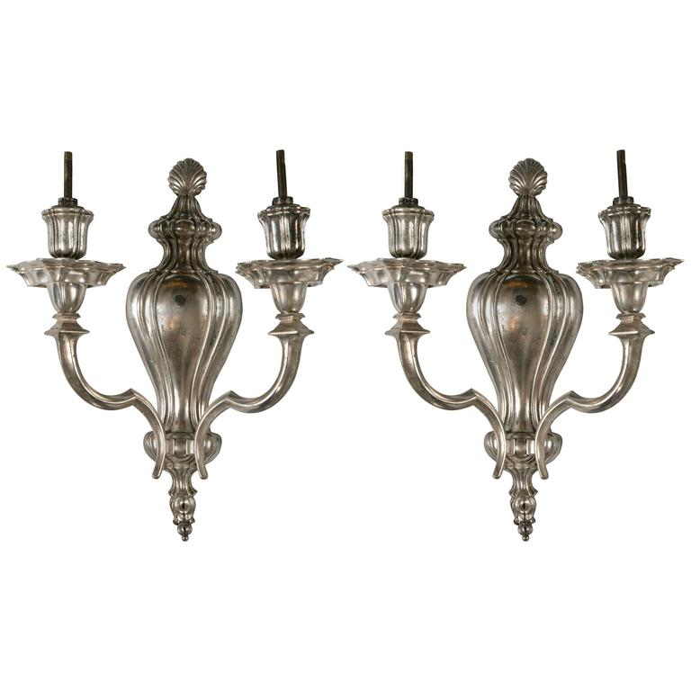Caldwell Silver Plated Sconces, circa 1920s