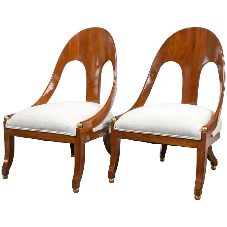 Pair of Regency Style Chairs by Baker