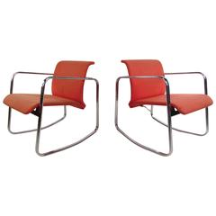 Pair of Rare Herman Miller Rocking Chairs, Mid-Century Design by Peter Protzmann