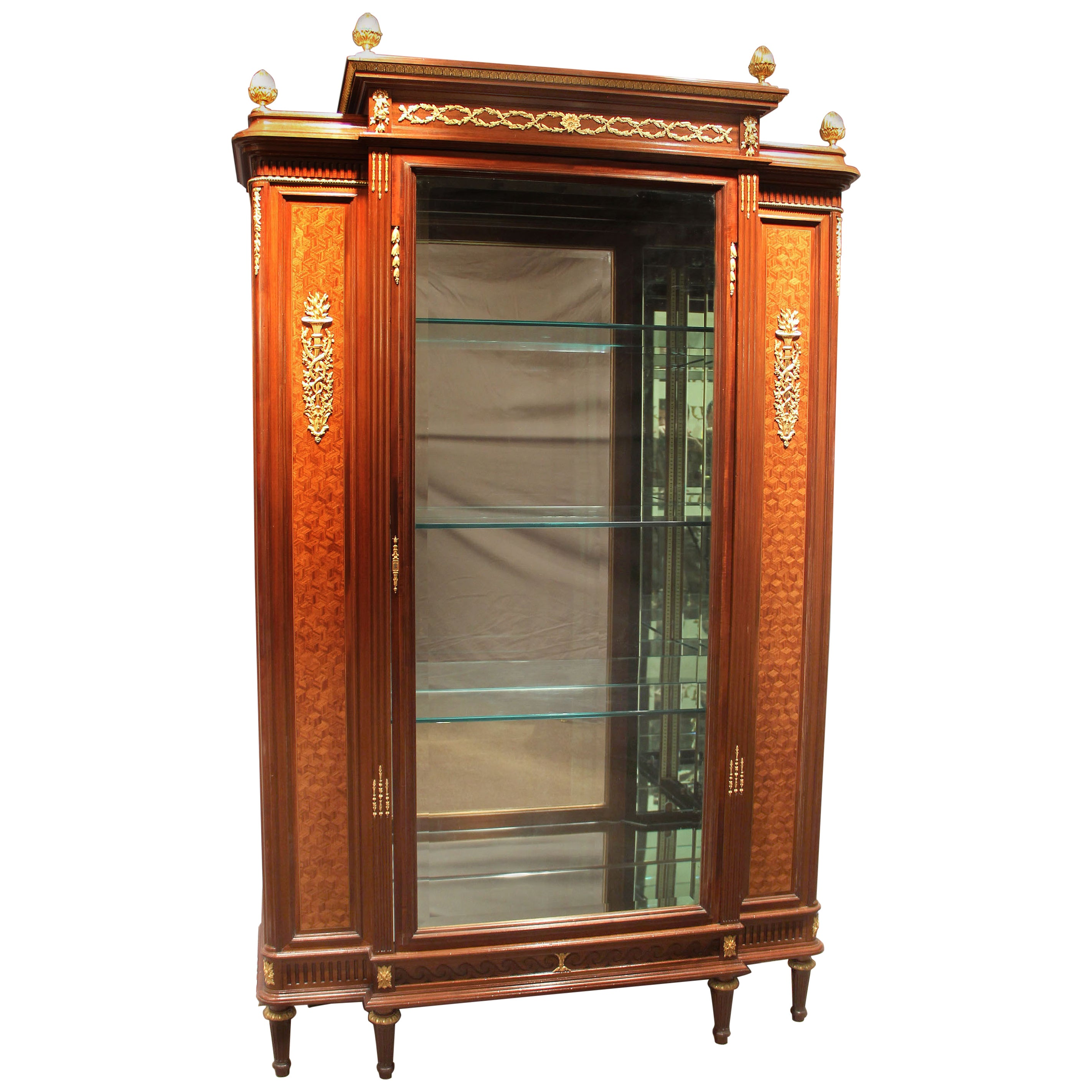Large and Fine Early 20th Century Gilt Bronze-Mounted Vitrine by François Linke