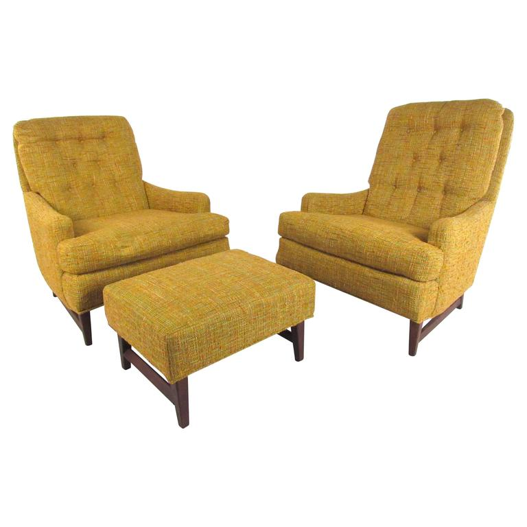 Mid century modern selig lounge chair single tall chair for Single lounge chairs for sale