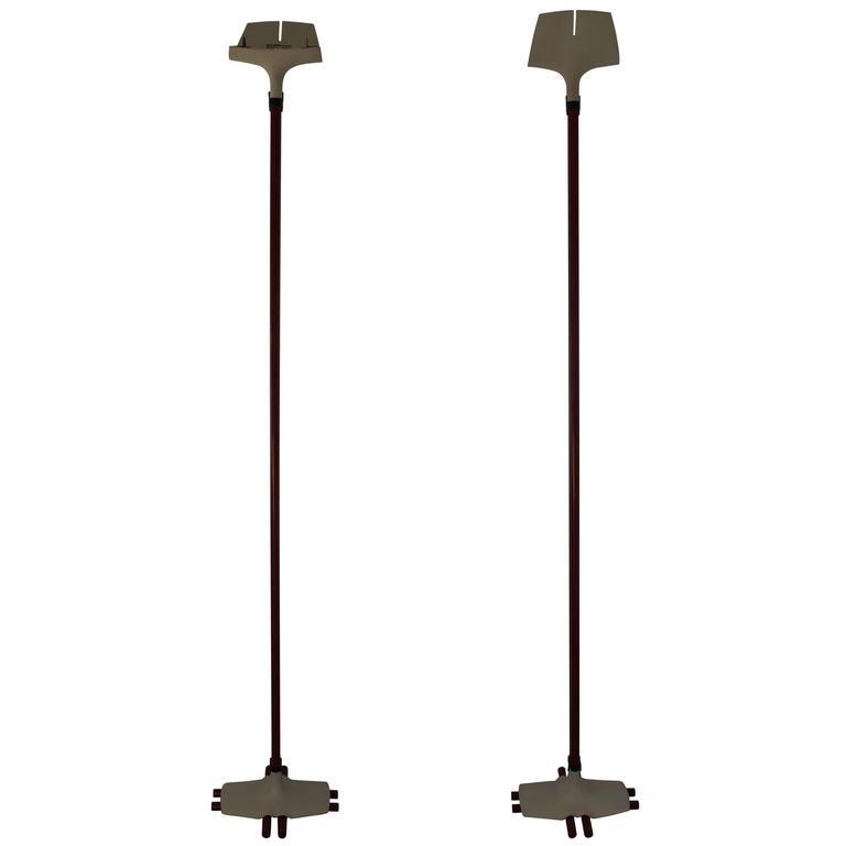 Pair of Floor Lamps by Stilnovo