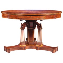 Mahogany Drum Table by Alphonse Giroux et Cie