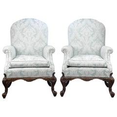 George II Style Mahogany Armchairs