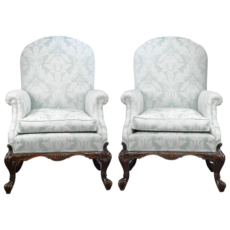 George II Style Mahogany Armchairs For Sale