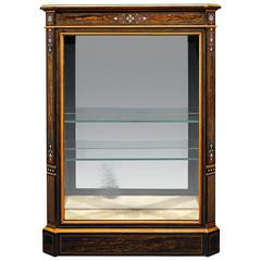 19th Century Coromandel Inlaid Vitrine