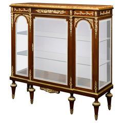 Louis XVI Glass Credenza