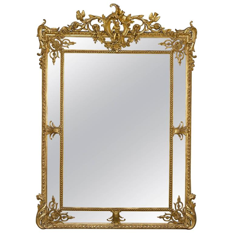 Louis XV Revival Giltwood Mirror