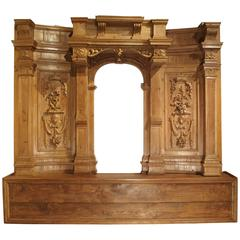 Large and Unique Antique French Boiserie with Covered Alcove, 17th Century