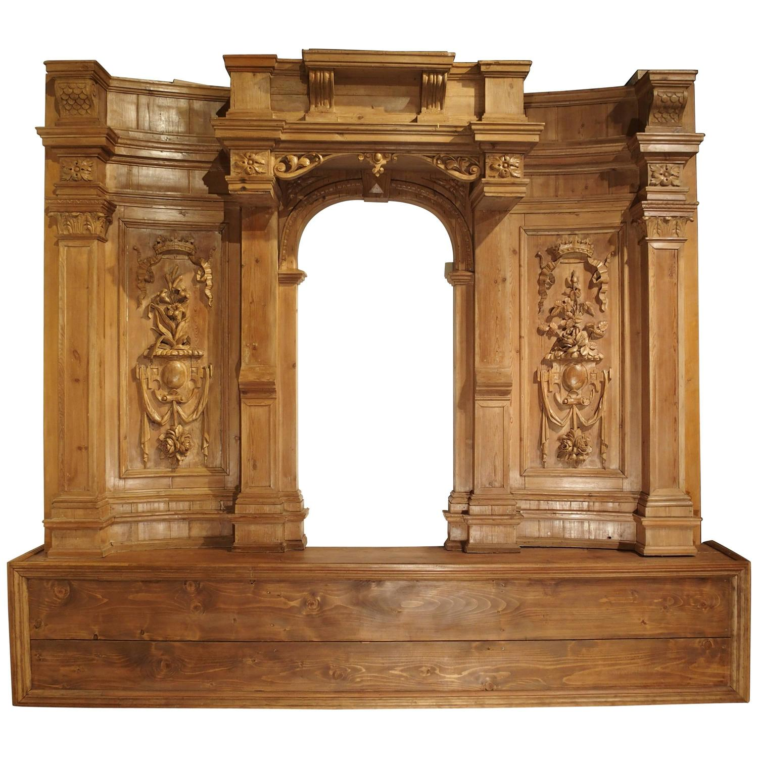 Unique Antique Furniture: Large And Unique Antique French Boiserie With Covered