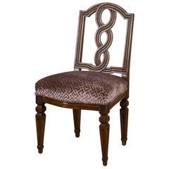 Antique Italian Neoclassical Walnut Chair, circa 1780