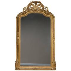 Antique French Régence Style Gold Leaf Mirror, circa 1890