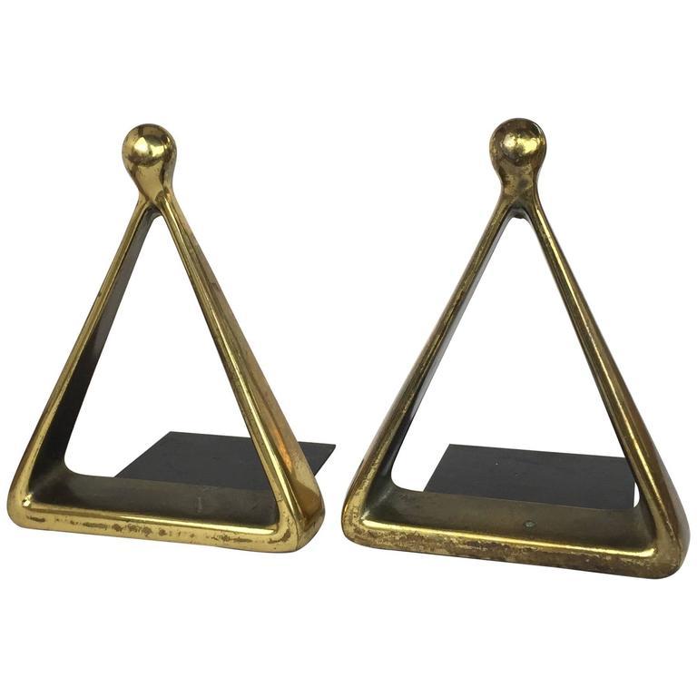 Ben Seibel Jenfred Ware Brass Bookends For Sale