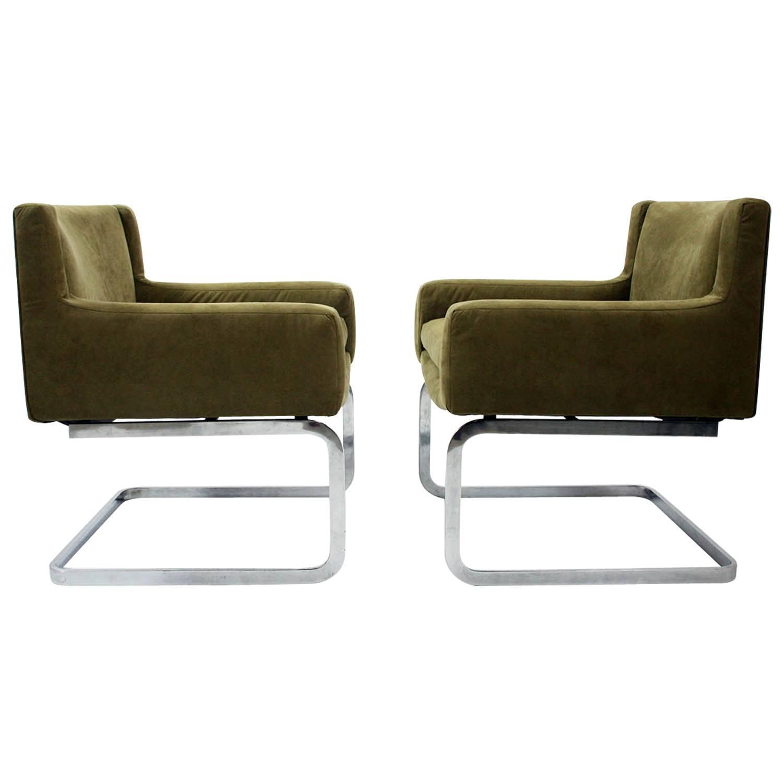 Robert Haussmann Pair of Lounge Chairs for De Sede 1957 at 1stdibs