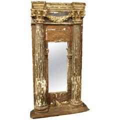 17th Century Tabernacle Mirror from Italy