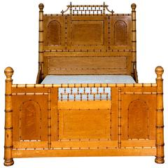 Aesthetic Movement Faux Bamboo Full Bed by R. J. Horner & Co.