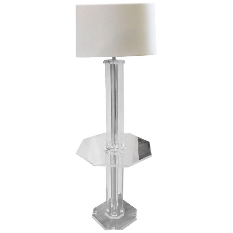 Mid-Century Modern Lucite Floor Lamp
