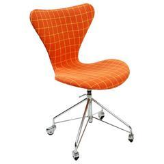 Arne Jacobsen Swag Base Sevener Desk Chair for Fritz Hansen