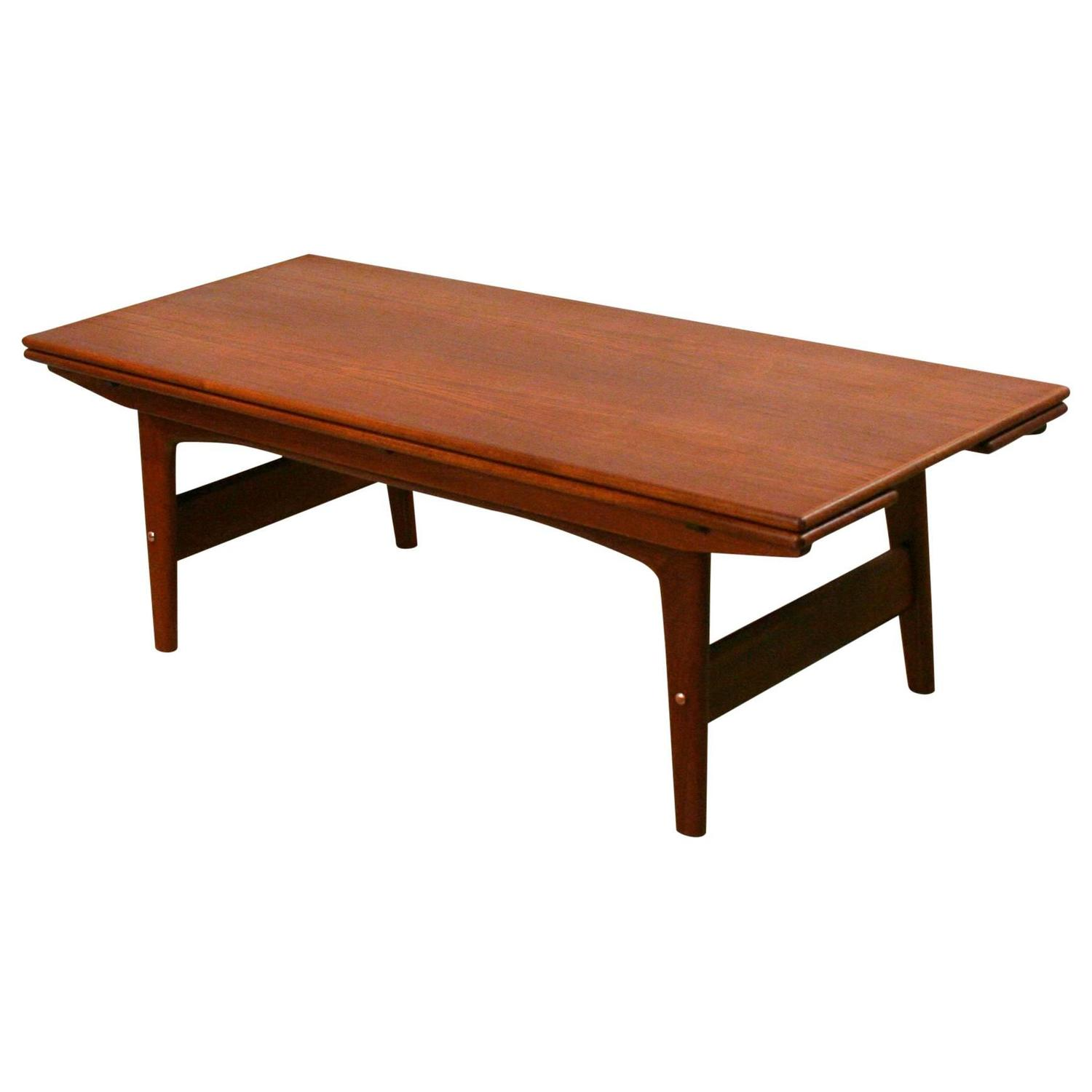 Old Teak Coffee Table: Vintage Danish Teak Elevator Coffee Table At 1stdibs